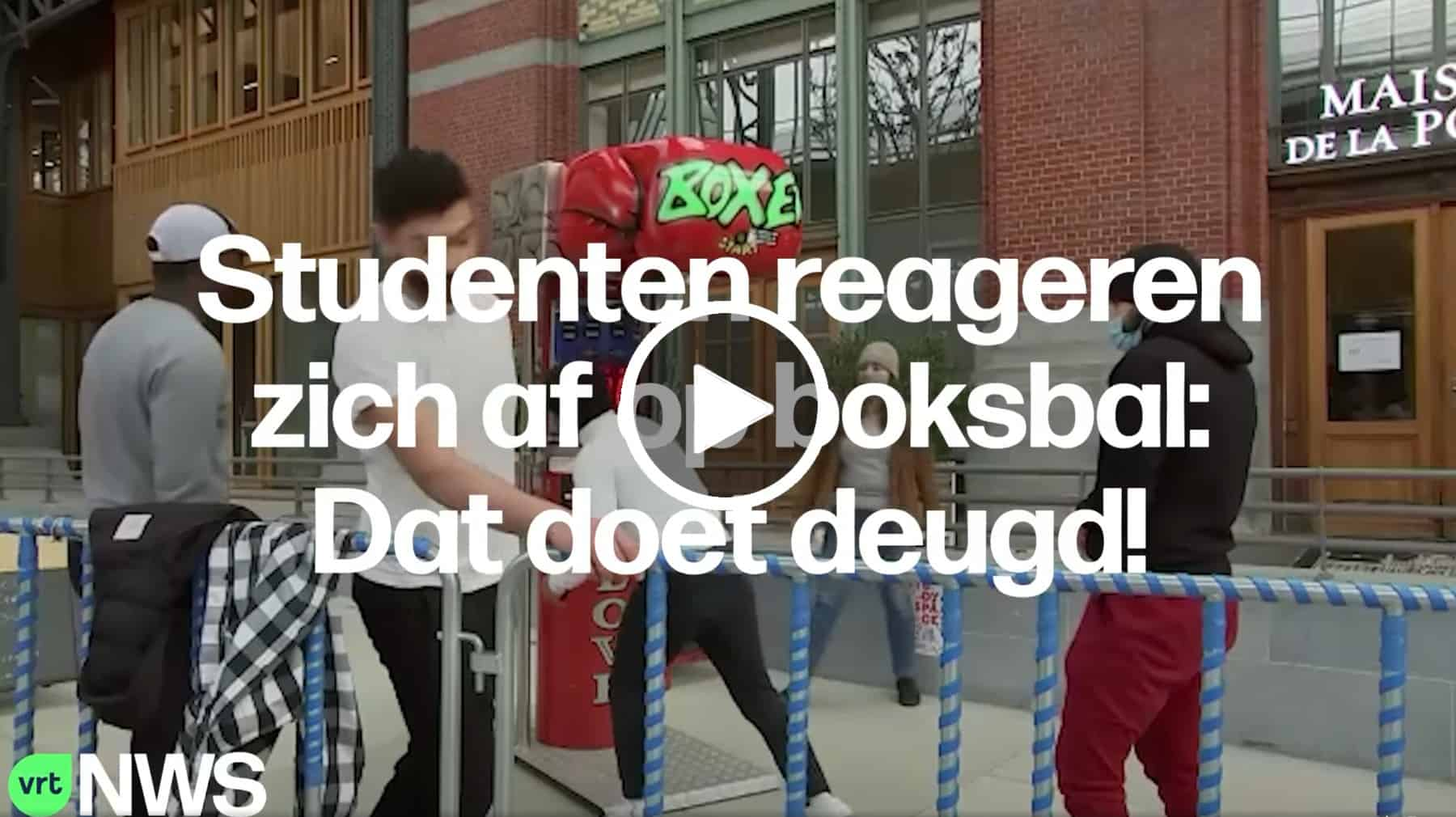 Boksbal als stress relief studenten