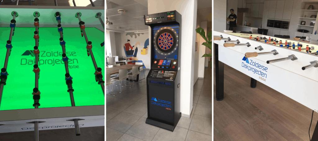 Tafelvoetbal en darts voor een frissere werksfeer